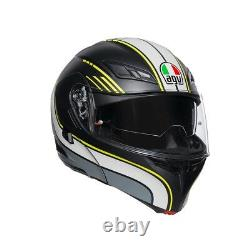 AGV Helm klapphelm Compact ST Black Grey Yellow Größe L motorradhelm Modular