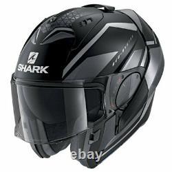 All New Shark Evo Es Modular Flip Helmet Yari Matt Grey Black Cheap