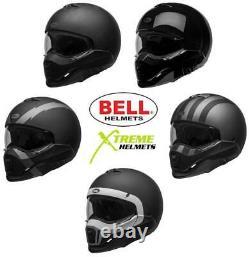 Bell Broozer Helmet Convertible Open Face Full Face Eyewear Friendly DOT XS-2XL
