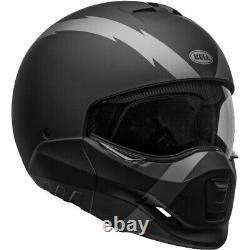 Bell Broozer Street Cruiser Motorcycle Helmet Arc Flat Matte Black/Grey Medium M