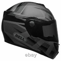 Bell SRT Blackout Modular Helmet Matte/Gloss Black/Grey and Clear Shield 7095612