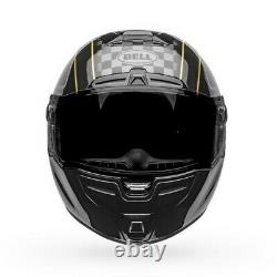 Bell SRT-Modular Buster Motorcycle Helmet Gloss Black/YellowithGray