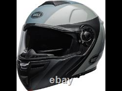Bell SRT Modular Presence Matte/Gloss Black/Gray Street Motorcycle Helmet