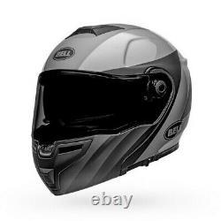 Bell SRT Modular Presence Motorcycle Helmet Matte/Gloss Black/Gray