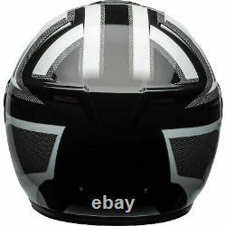 Bell SRT Predator Modular Motorcycle Helmet Gloss White/Black/Gray Large NIB