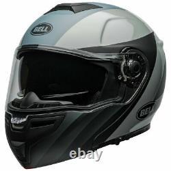 Bell SRT Presence Black/Gray Modular Motorcycle Helmet Flip Down Sun 7110080 HB