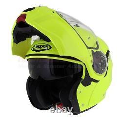 Caberg Droid Matt Black HiViz Iron Grey White Flip Front Motorcycle Helmet NEW