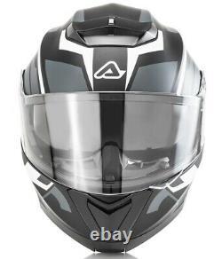 Casco Helmet Moto Modulare Apribile Acerbis Serel Nero Grigio Black Grey Tg M