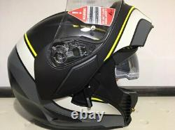 Casco Modulare AGV Compact Boston Matt Black Grey Yellow Apribile Tg S Per Moto