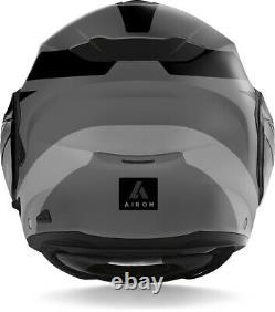 Casco Modulare Airoh Rev 19 Leaden Grey Matt Black Mentoniera Ribaltabile Tg Xs