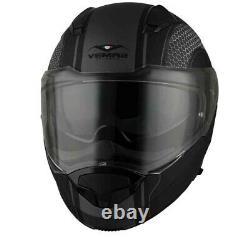 Casco Moto Modulare Apribile Vemar Sharki Hive Black Matt Grey Nero Grigio Tg L