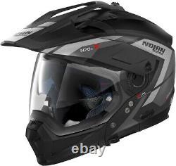 Casco crossover modulare moto Nolan N70-2 X grandes alpes Flat black grey 21
