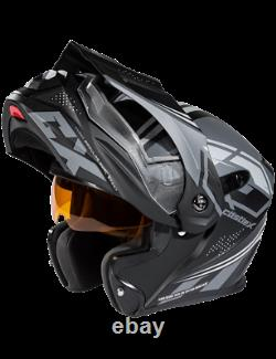 Castle X EXO-CX950 Siege Electric Modular Snowmobile Helmet Matte Black/Charcoal