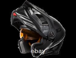 Castle X EXO CX950 Task Modular Snowmobile Helmet Matte Gray/Black