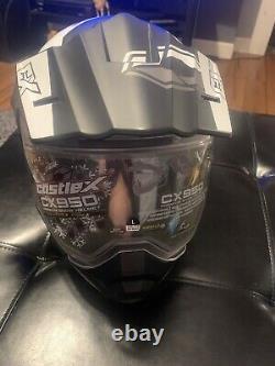 Castle X EXO CX950 Task Modular Snowmobile Helmet Matte Gray/Black Xl