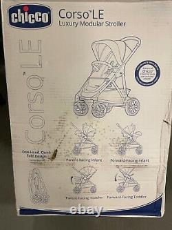 Chicco Corso LE Modular Stroller in Studio Black & Gray distressed box