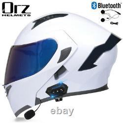 DOT Motorcycle Helmet+Bluetooth Headset+Double Shield Full Face Flip up Modular