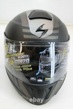 Exo-gt920 Unit Matte Black Gray Grey Men's Large Lg Dot Approved Modular Helmet