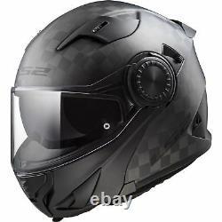 FF313 Vortex Carbon Flip up Urban Motorcycle Motorbike Road Crash Helmet Black