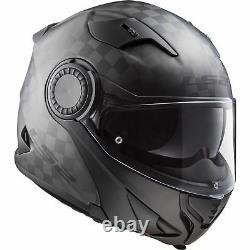 FF313 Vortex Urban Commuter Motorcycle Motorbike Carbon Solid Flip-up Helmet