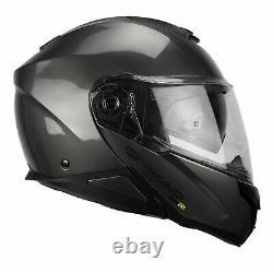G-Mac Glide Evo Modular DVS Flip Up Front Motorcycle Helmet Gun Metal Grey