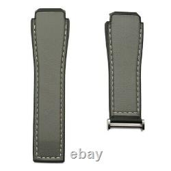 Grey calfskin strap with black rubber lining 1FT6104 TAG Heuer Modular