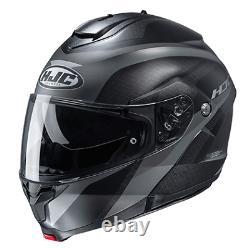 HJC C91 TALY Full-Face Modular FLIP UP Street Helmet MC5SF GREY BLACK XXXXL 4XL