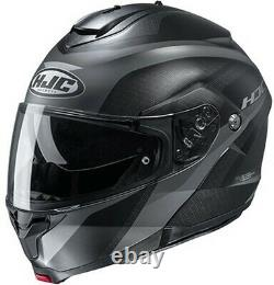 HJC C91 TALY Full-Face Modular Flip-Up Helmet -Semi-Flat Black/Anthracite Grey