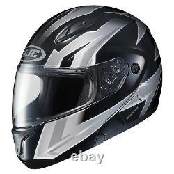 HJC CL-MAX 2 Ridge Modular Motorcycle Helmet Black/Grey Medium