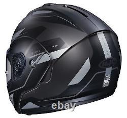 HJC CL-MAX3 Flow Motorcycle Helmet Matte Gray S SM Small Modular Sunscreen