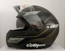 HJC CL-MAX3 Flow Motorcycle Helmet Semi Flat Matte Gray XS Modular Sunscreen