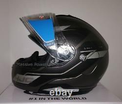 HJC CL-MAX3 Flow Snowmobile Helmet Gray Black XS Extra Small Modular Sunscreen