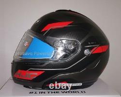 HJC CL-MAX3 Flow Snowmobile Helmet Red Gray MD Medium Modular Sunscreen