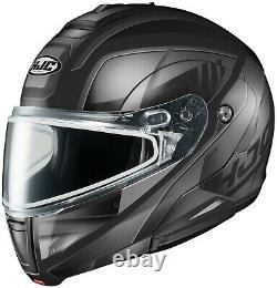 HJC CL-MAX3 Gallant Snowmobile Helmet Gray / Black LG Large Modular Sunscreen