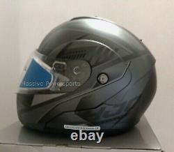 HJC CL-MAX3 Gallant Snowmobile Helmet Gray / Black MD Medium Modular Sunscreen