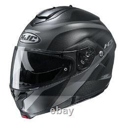 HJC CS91 Modular Taly Grey/Black Lg Motorcycle Street Bike Helmet (2106-754)