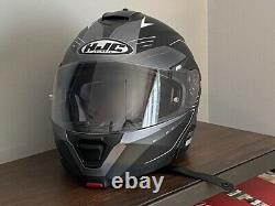 HJC IS-MAX II IS-MAX 2 CORMI Grey White Black Helmet L Large Modular Flip