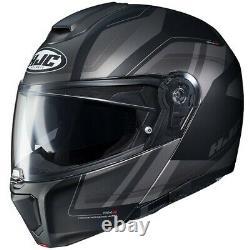 HJC RPHA 90 Tanisk Motorcycle Helmet Black/Gray