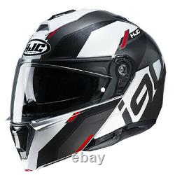 HJC i90 Aventa Helmet Black/Gray/Red All Sizes