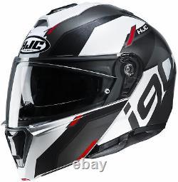 HJC i90 Aventa Modular Helmet MATTE BLACK GREY WHITE RED