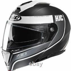 HJC i90 Davan Modular Helmet Black/Grey/White, All Sizes