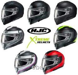 HJC i90 Snow Helmet Snowmobile Inner Sun Visor Dual or Electric Shield XS-5XL