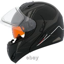 Helmet Electric Lens Modular CKX Tranz RSV Recharge Black Grey Mat Large