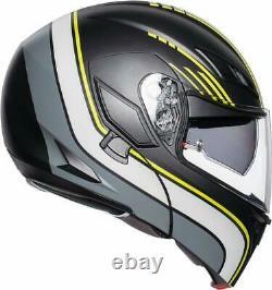 Helmet Modular AGV Compact St Boston Black Grey Yellow SIZE S