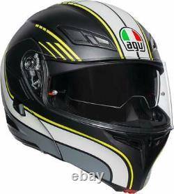 Helmet Modular AGV Compact St Boston Black Grey Yellow Size XL