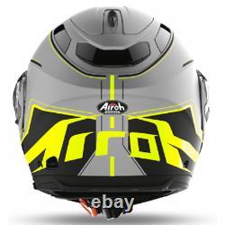 Helmet Modular Motorcycle Airoh Phantom Beat Grey Yellow Black