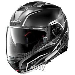 Helmet Modular Openable Motorcycle Nolan N100-5 Balteus N-Com Matte Black Grey L