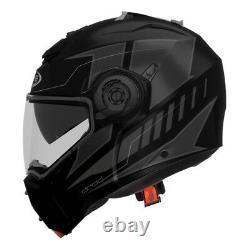 Helmet Motorcycle Caberg Droid Blaze Black Grey Size L Modular Helm Capacete