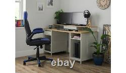 Home Modular 1 Drawer Gaming Desk Oak Effect & Grey