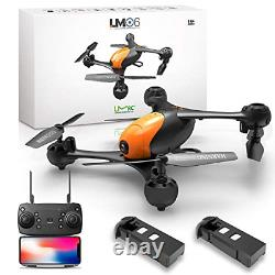 LMRC LM06 FPV Drone with 1080P HD Camera for Adults and Kids, 2 Modular Mode, One